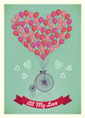 Vector Valentine, Birthday, Love romantic card.