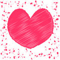 Vector valentine card Royalty Free Stock Photo