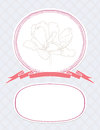 Vector valentine card, wedding invitation template Royalty Free Stock Photography