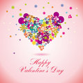 Vector valentine day card Royalty Free Stock Image
