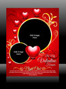 Vector valentine day flyer illustration Royalty Free Stock Photography