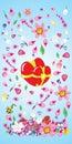 Vector, valentine, decoration, ornament, petal, love, illustrati Stock Photo