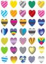 Vector, valentine, decoration, ornament, petal, love, illustrati Royalty Free Stock Photos