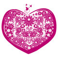Vector valentine heart Royalty Free Stock Photos