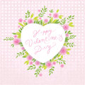 Vector Valentine's background. Discreet floral motive with cute arrow. Stock Image