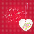 Vector Valentine's background. Discreet floral motive with cute arrow. Stock Photos
