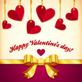 Vector Valentine's day greeting card with hearts Stock Photography