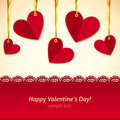 Vector Valentine's day greeting card with hearts Royalty Free Stock Photos