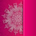 Vector valentine s day lacy greeting ornate heart background Stock Photo