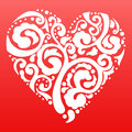Vector valentine s day lacy heart greeting card on background Royalty Free Stock Photography