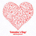 Vector valentine s day lacy heart greeting card on background Royalty Free Stock Images