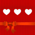 Vector valentines day card with hearts and place for text Royalty Free Stock Photo
