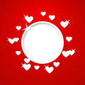 Vector valentines day card with place for text Royalty Free Stock Image