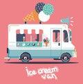 Vector van ice cream