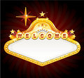 Vector vegas casino sign Royalty Free Stock Images