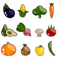 Vector vegetable set Stock Photography
