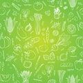 Vector vegetables pattern. Vegetables seamless background
