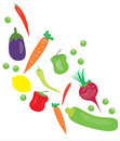 Vector vegetables white background Royalty Free Stock Photos