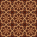 Vector version of seamless vintage editable tile pattern with geometrical and floral motifs