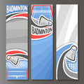 Vector Vertical Banners for Badminton