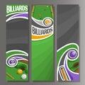 Vector Vertical Banners for Billiards