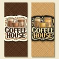 Vector vertical banners for Coffee House Royalty Free Stock Photo