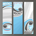 Vector Vertical Banners for Ice Hockey