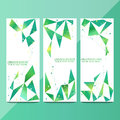 Vector vertical banners set for your advertisement vector illustration with polygonal abstract shapes with gradient lines Stock Images