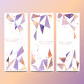 Vector vertical banners set for your advertisement vector illustration with polygonal abstract shapes with gradient lines Stock Photography