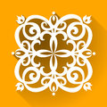Vector victorian ornament in flat design style ornate element for toolkit for designer it can be used for decorating of Stock Image