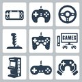 Vector video games icons set Stock Photography