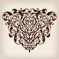 Vector vintage baroque frame corner ornate scroll design pattern element engraving retro style ornament Stock Images