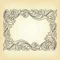 Vector vintage border frame engraving Royalty Free Stock Photography