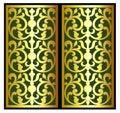 Vector vintage border frame logo engraving with retro ornament pattern in antique rococo style decorative design