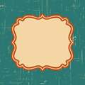 Vector vintage border frame with retro ornament pattern in antique style decorative design. Old fashion texture. Vintage Labels. R Royalty Free Stock Photo