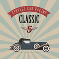 Vector vintage classic car Stock Photography