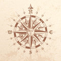 Vector Vintage Compass Rose Royalty Free Stock Photo