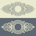 Vector Vintage Decorative Fram...