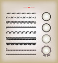 Vector vintage design elements Royalty Free Stock Images