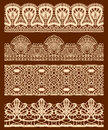 Vector vintage design elements retro seamless Stock Photo
