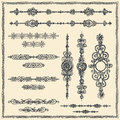 Vector vintage design elements Stock Photos
