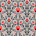 Vector vintage flowers pattern. retro seamless texture