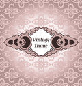 Vector vintage frame background with a pattern in a style Royalty Free Stock Photo