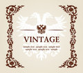 Vector vintage heraldic imperial frame eagle Stock Photography