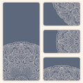 Vector vintage invitation card set. Stock Photos
