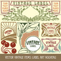 Vector vintage items Stock Image