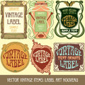 Vector vintage items label art nouveau Stock Image