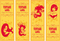 Vector vintage labels banners Royalty Free Stock Photo