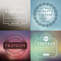 Vector vintage labels collection layered illustration Stock Photography