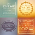 Vector vintage labels collection layered illustration Royalty Free Stock Images